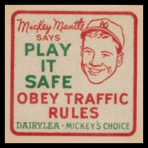 1956 Dairylea Mickey Mantle